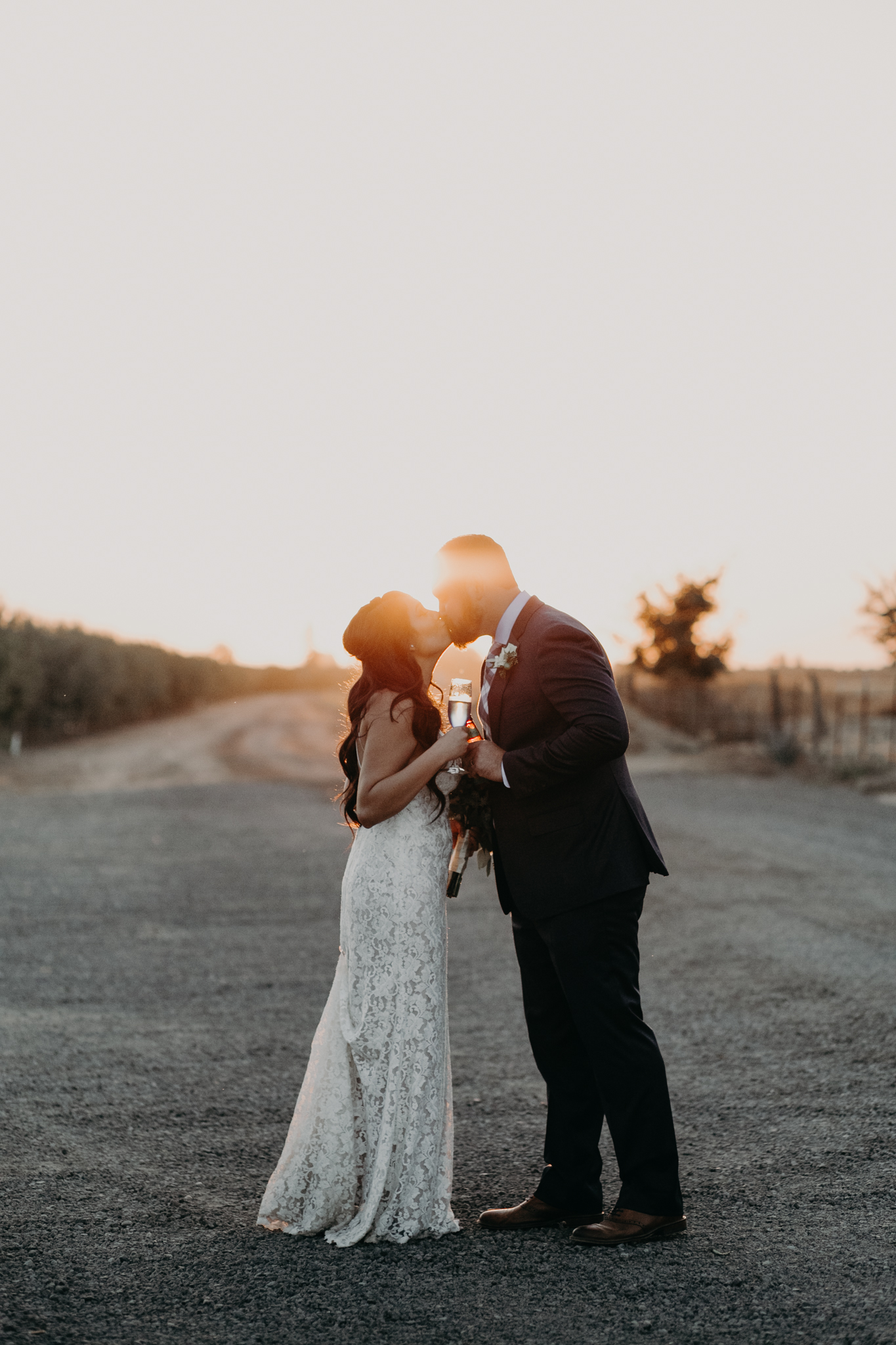 Intimate Rustic Wedding in Escalon, CA by Krystal Stockton